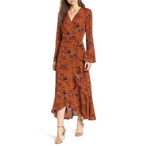 Leith Bell Sleeve Wrap Dress